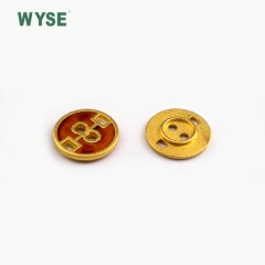Round shape enamel alloy button