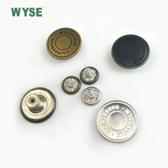 ALloy embossed logo movable jean button