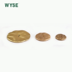 Irregular shape two hole alloy button