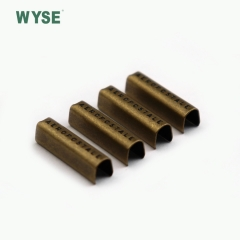 Anti brass finish filling black engraved logo cord end