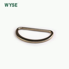 Alloy custom gold color D ring buckle