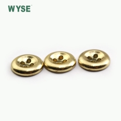 Custom metal cheap fashion gold color alloy sewing four holes button