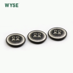 Custom metal wholesale cheap fashion logo alloy sewing four holes button