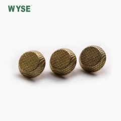 Custom logo ripple gold coat pattern Alloy sewing garment shank buttons