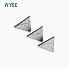 Hign quality special alloy triangle shape with concave logo snap button