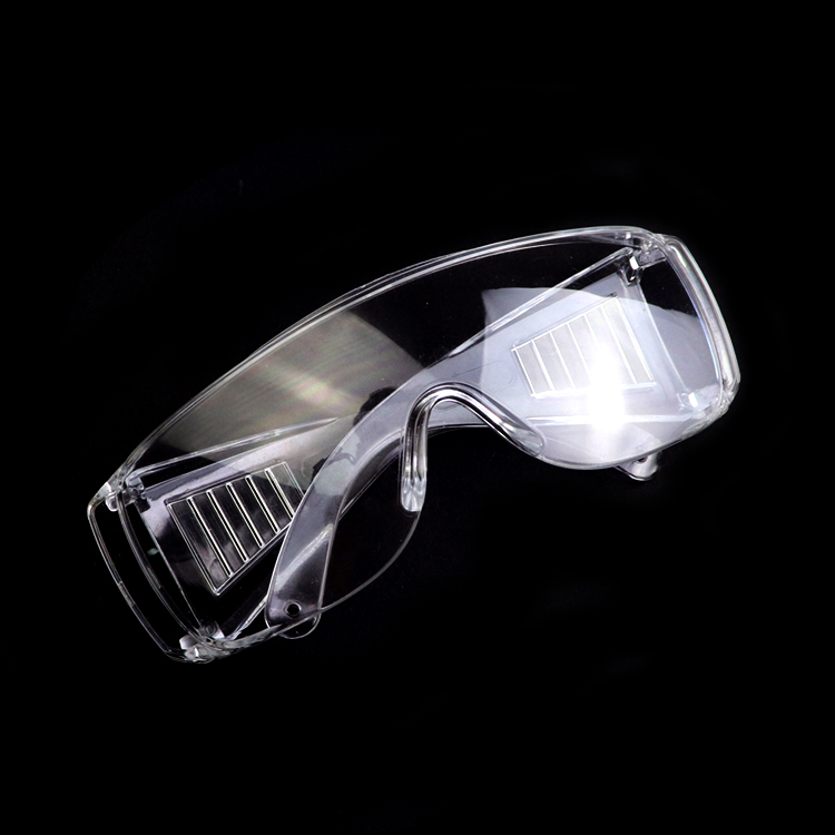 Customized transparent goggles with clear lenses for safety