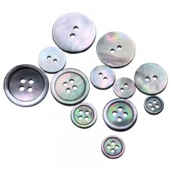 High Quality 2 4 Holes Round Black Mother Of Pearl Shell Button